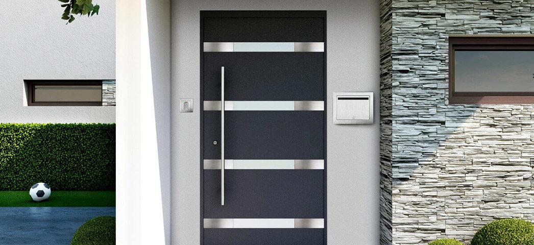W Ultra Nowoczesne drzwi zewnętrzne Krispol z doskonałym systemem zabezpieczeń VM55