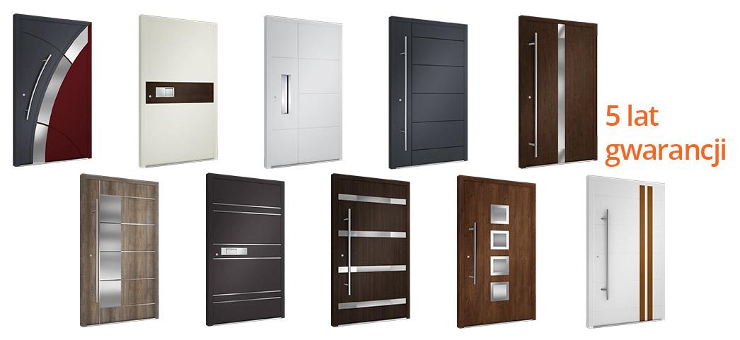 Drzwi zewnętrzne Krispol, 10 modeli, 5 lat gwarancji